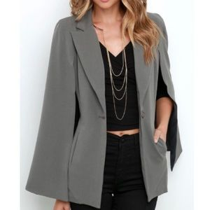 LULU'S Cape Blazer - Army Green